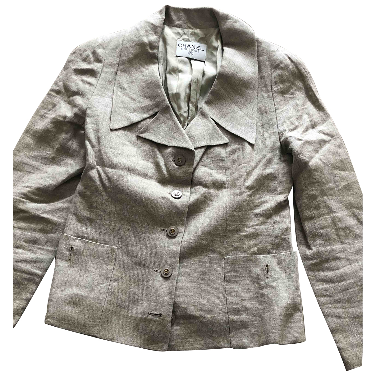 Chanel \N Beige Linen jacket for Women 40 FR
