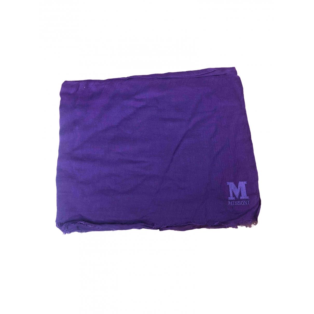 M Missoni - Foulard   pour femme en coton - violet