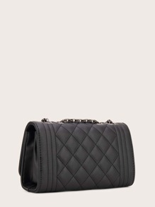 Quilted Flap Chain Crossbody Bag