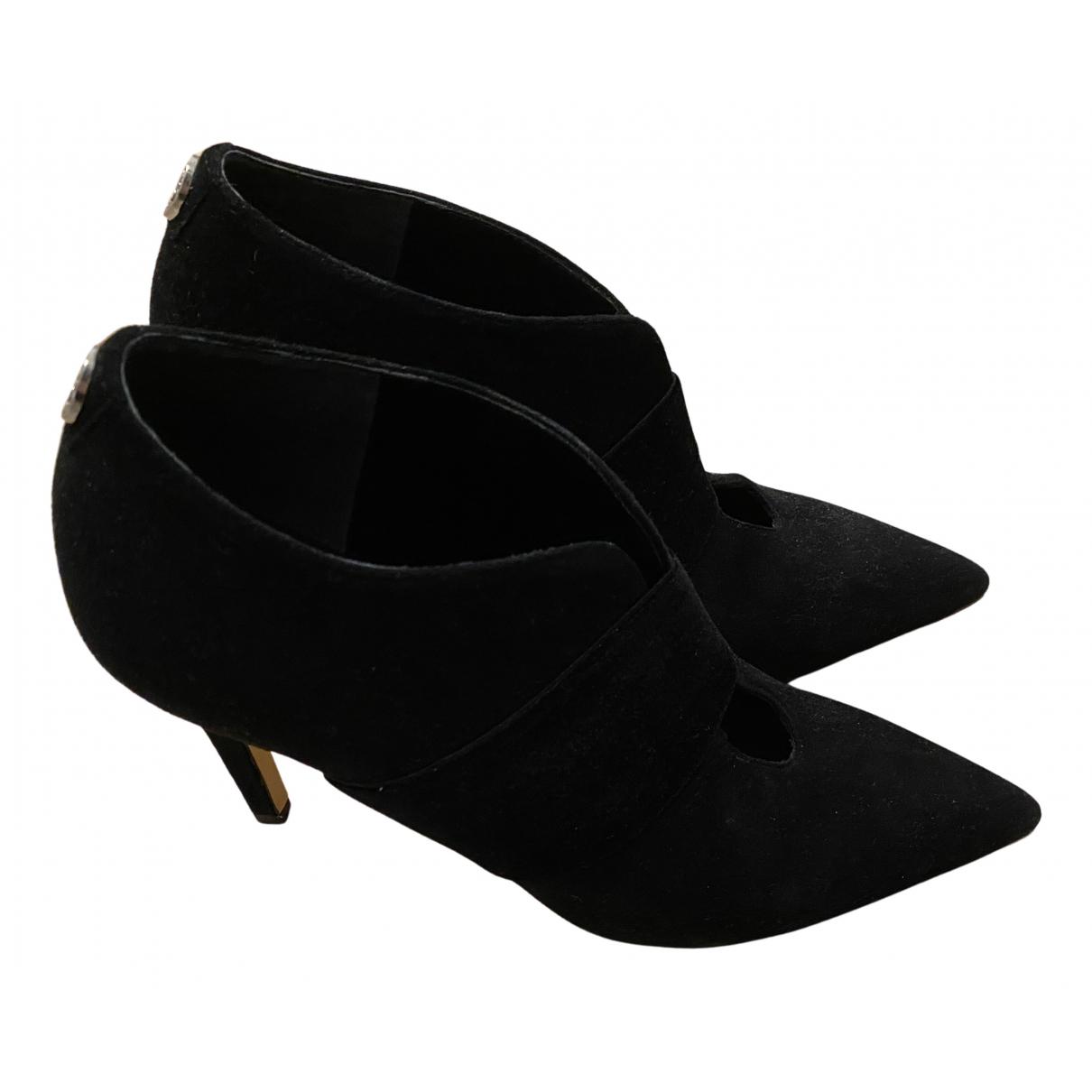Guess - Boots   pour femme en suede - noir