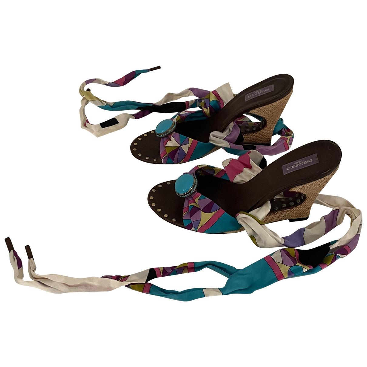 Emilio Pucci \N Multicolour Cloth Heels for Women 40 EU