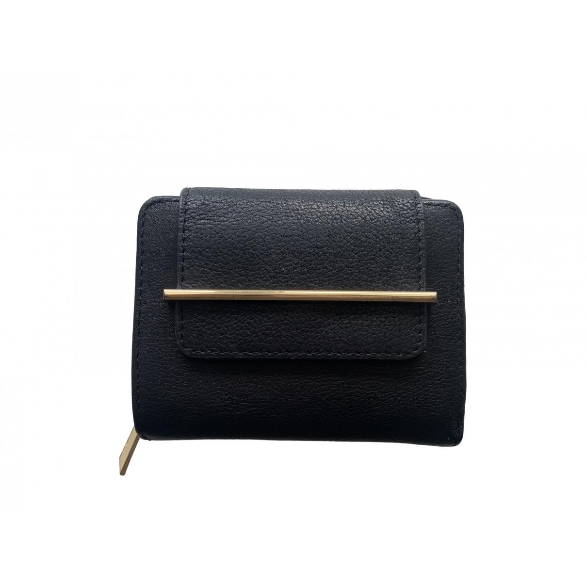 Vince Camuto - Portefeuille   pour femme en cuir - noir