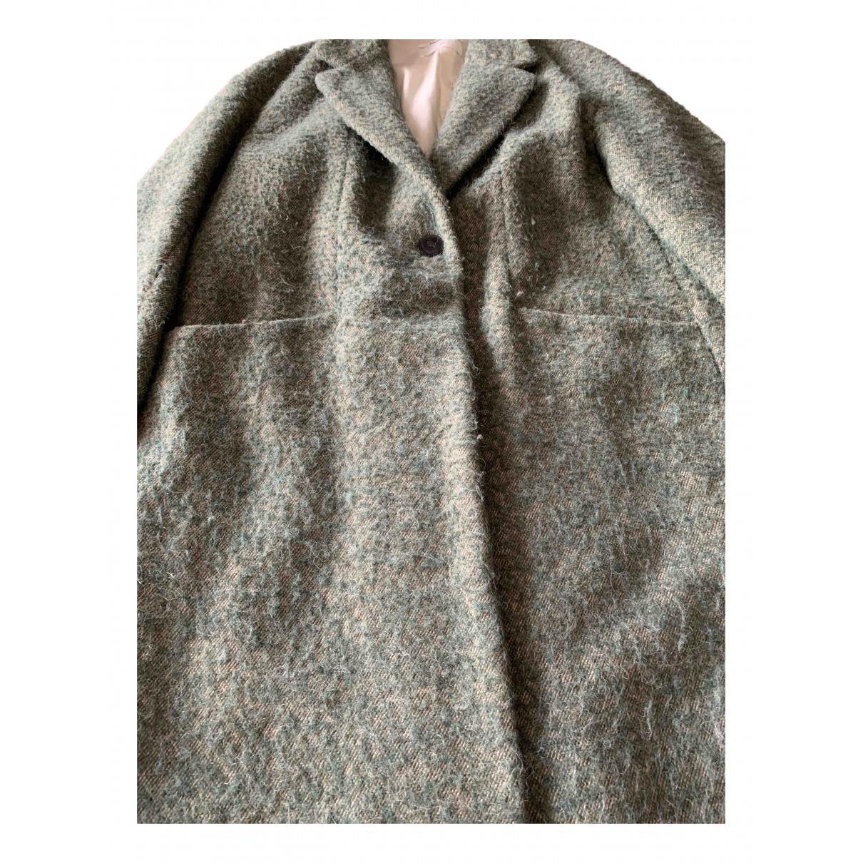 Pomandère N Green Cotton coat for Women 44 FR