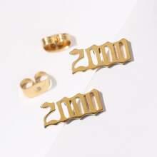 Number 2000 Stud Earrings