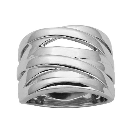 Sterling Silver Crisscross Ring, 9 , No Color Family