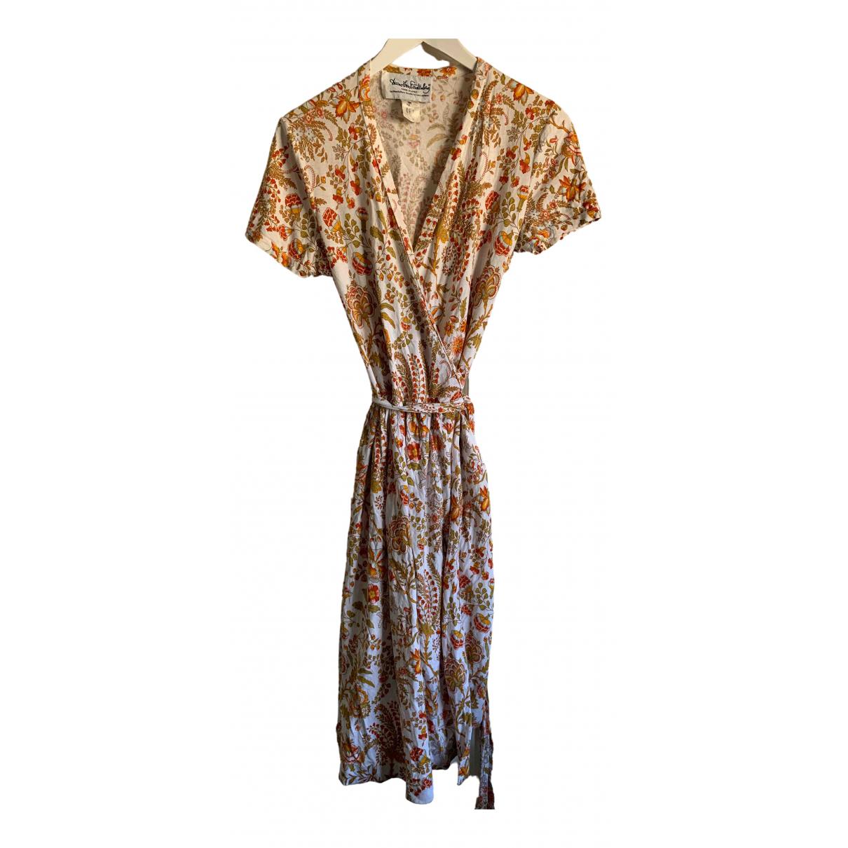Diane Von Furstenberg \N Multicolour Cotton dress for Women S International