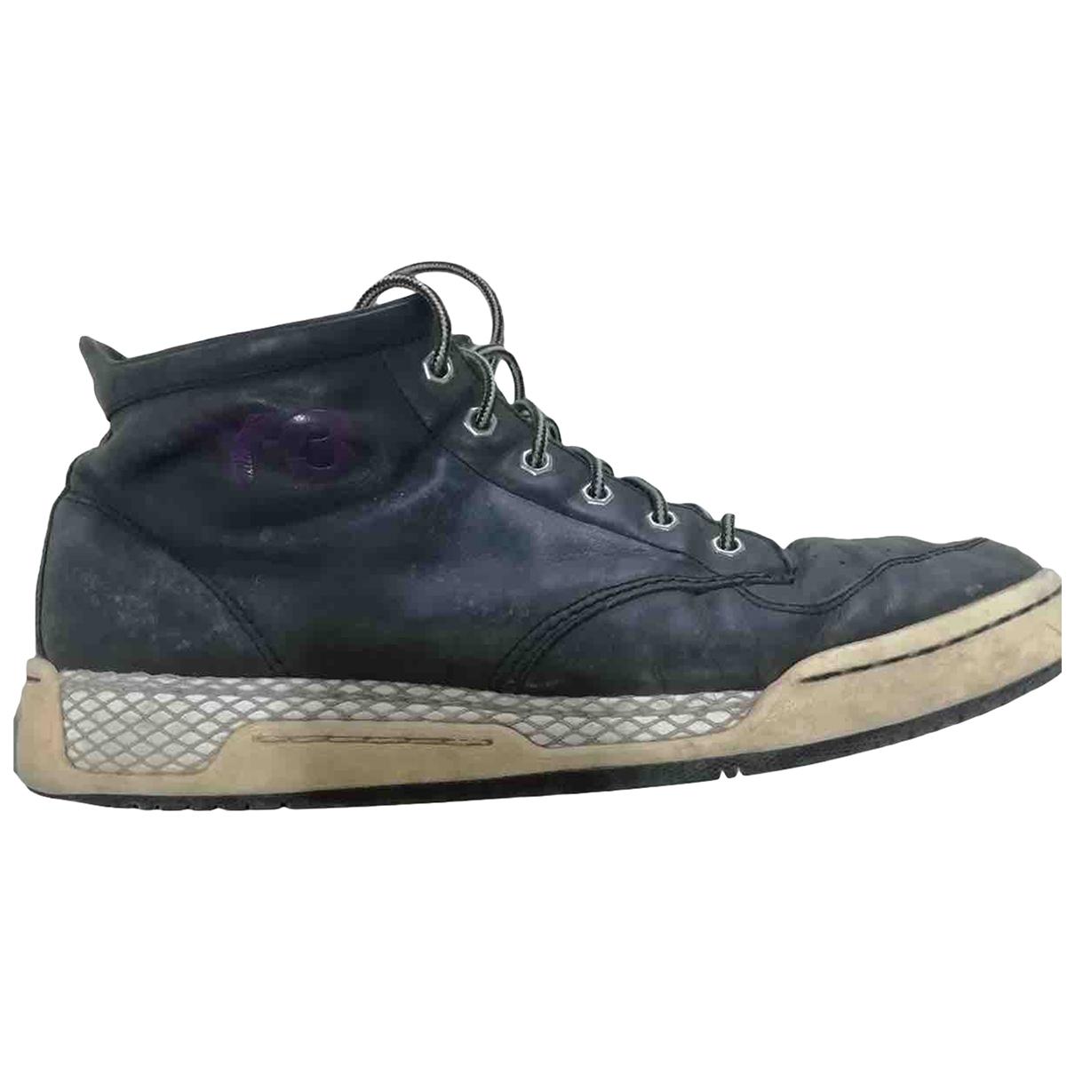Y-3 \N Sneakers in  Blau Leder