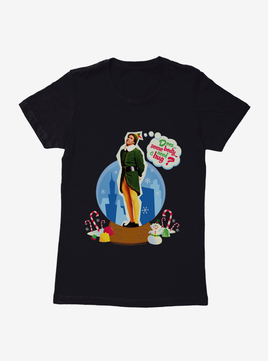 Elf Someone Need A Hug Womens T-Shirt
