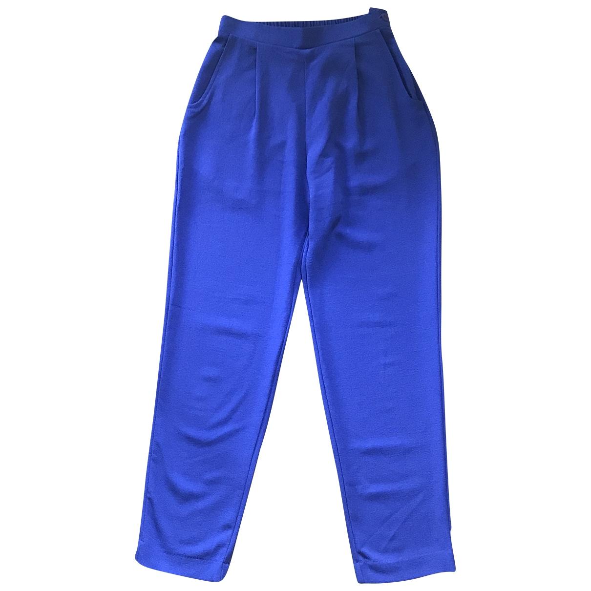 American Apparel \N Purple Trousers for Women 36 FR