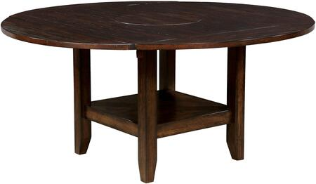 Mae Collection CM3152RT Round Dining Table in Brown