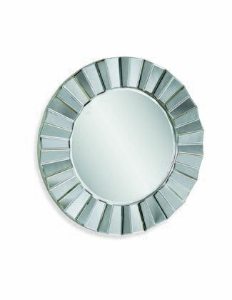 Glam Collection M3200BEC 35W x 35H Parker Wall Mirror with Wood Material in Bevel