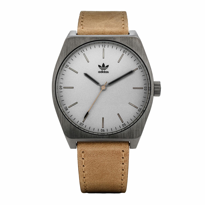 Adidas Men's Process L1 Z05 2916-00 Brown Leather Japanese Quartz Fashion Watch