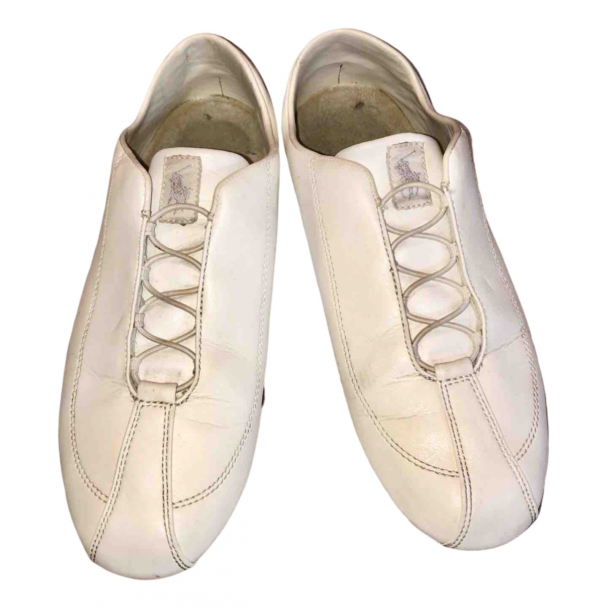 Polo Ralph Lauren - Baskets   pour femme en cuir - blanc