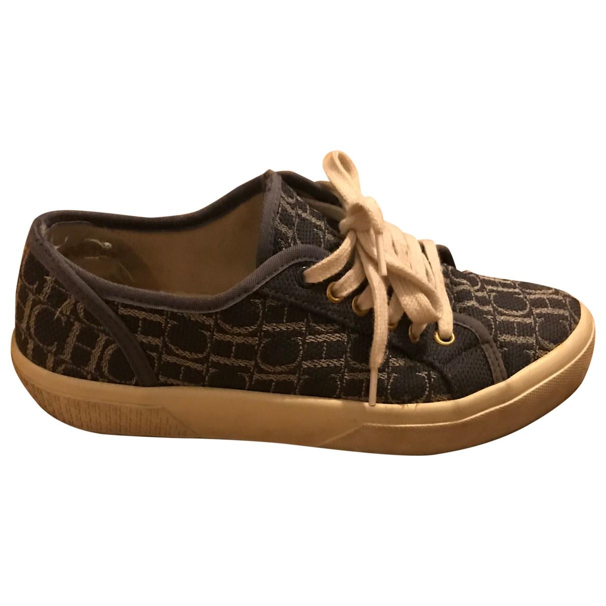 Carolina Herrera \N Sneakers in  Blau Leinen