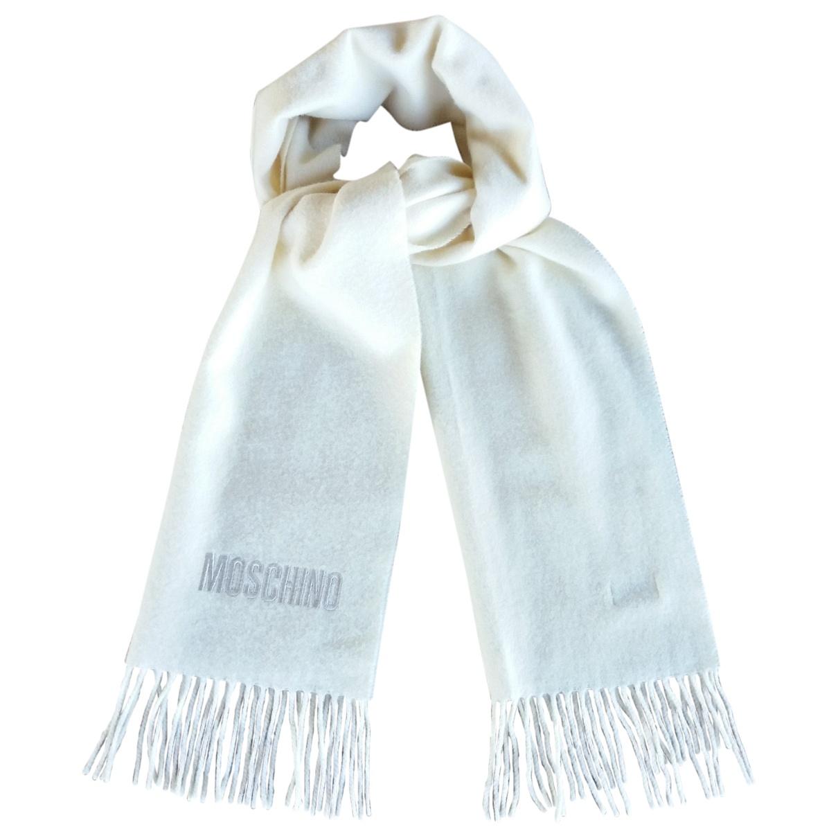 Moschino - Foulard   pour femme en laine - beige