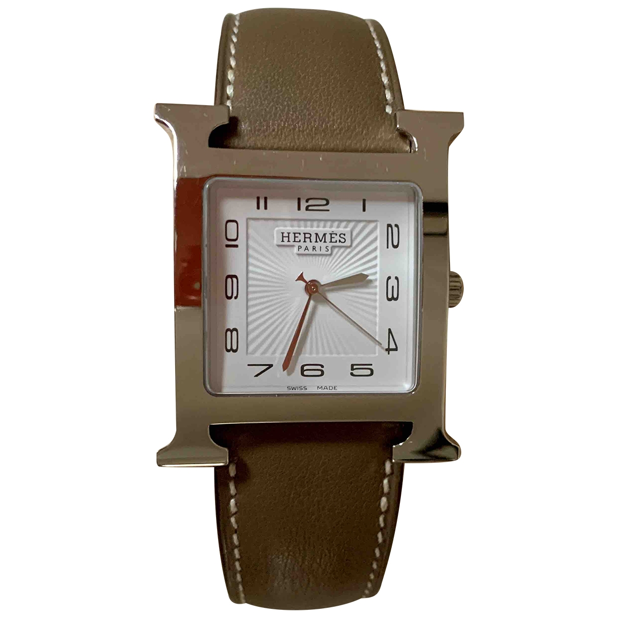Hermès Heure H Silver Steel watch for Men \N