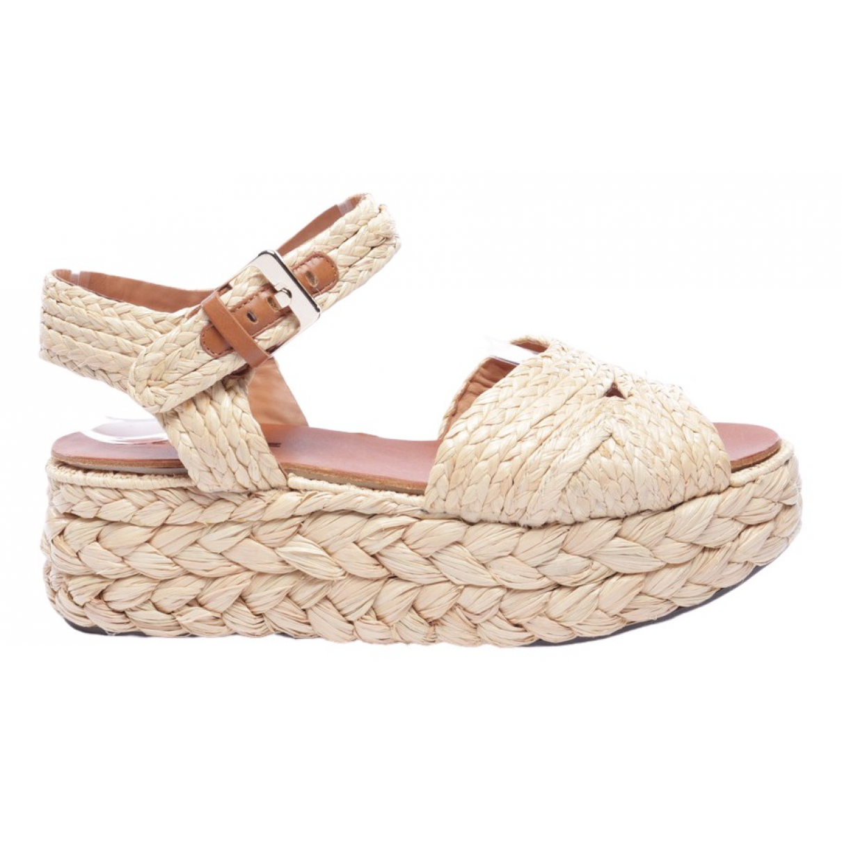 Robert Clergerie \N Beige Leather Sandals for Women 37.5 EU