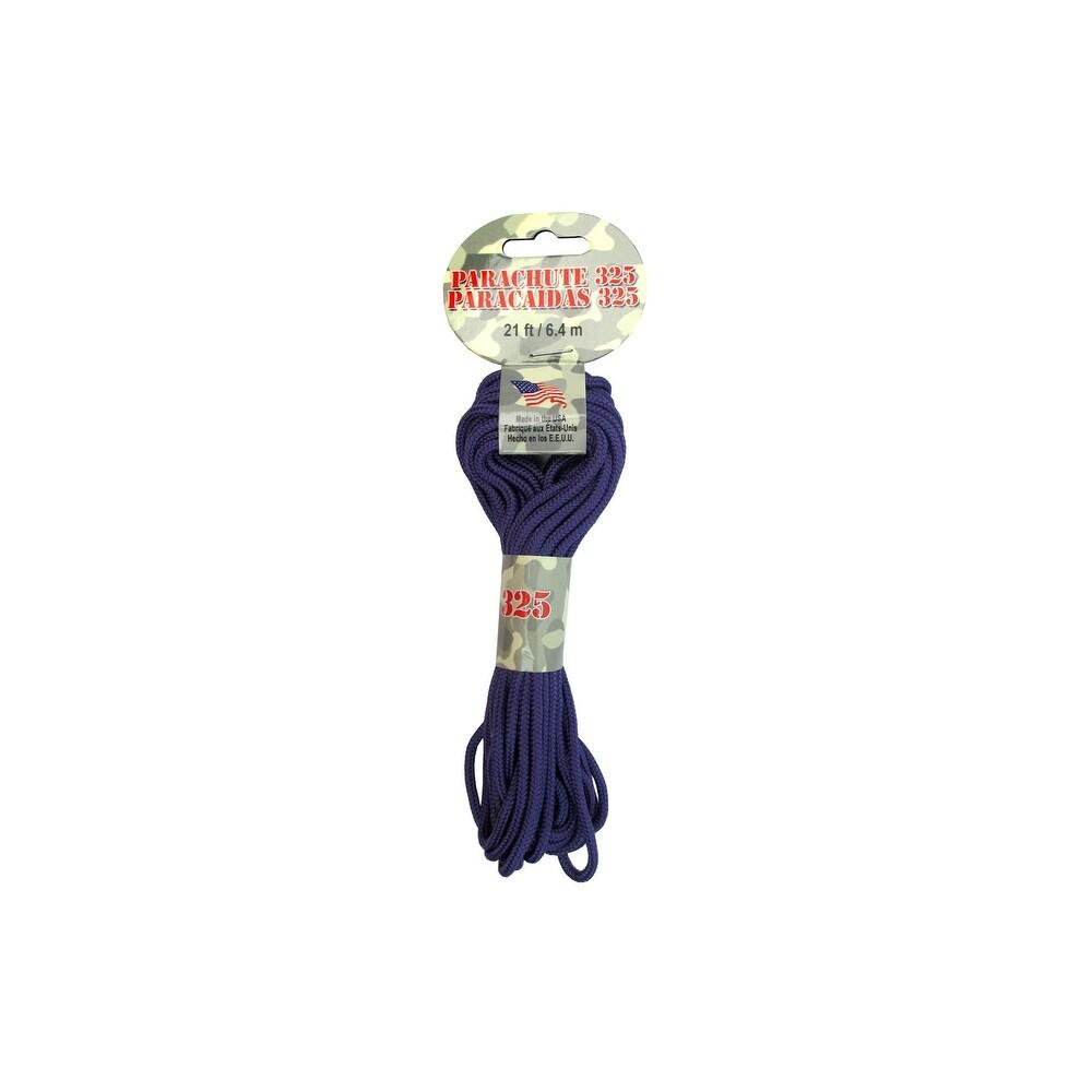 Pepperell Parachute Cord 325 Nylon 21ft Purple (Purple)