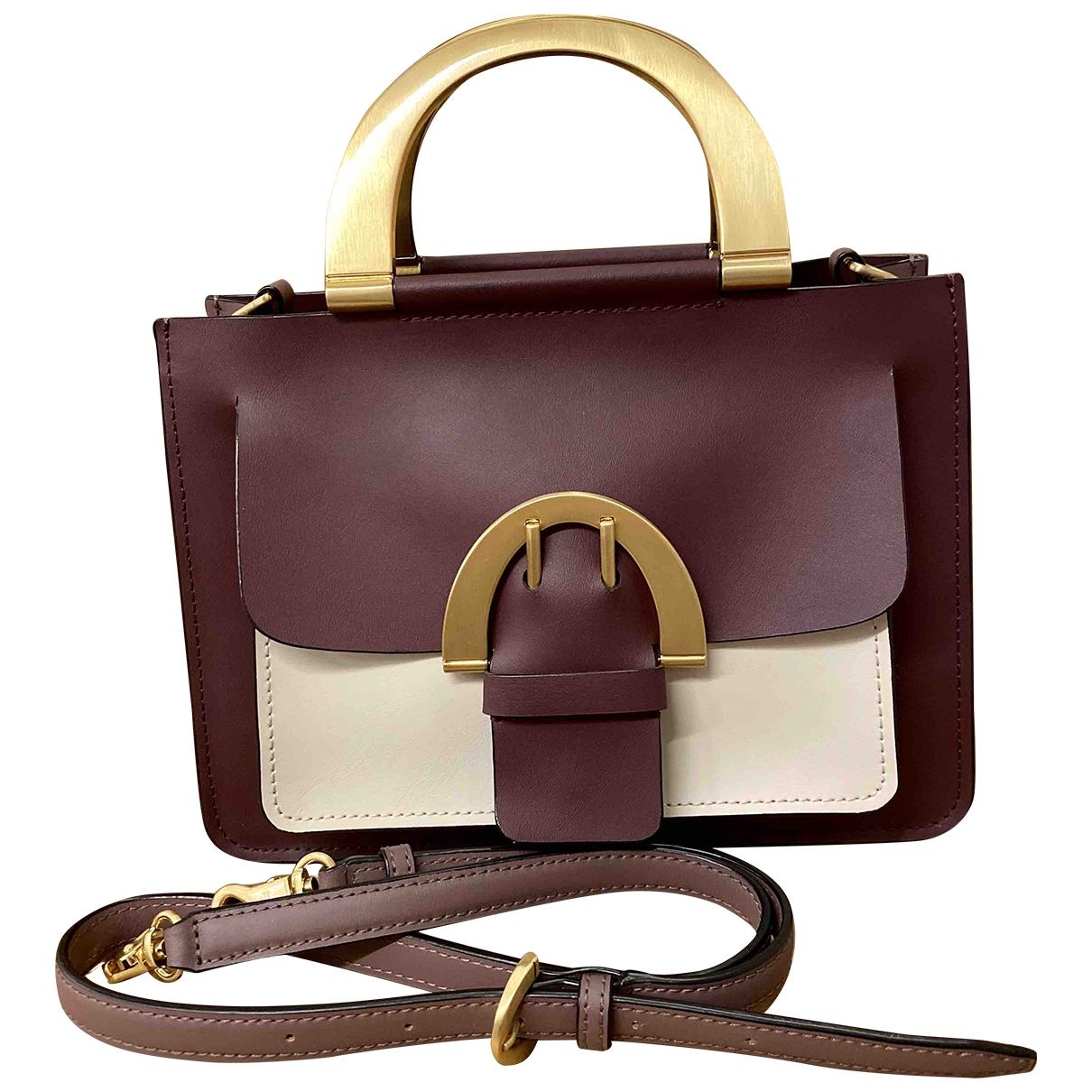 Zac Posen \N Handtasche in  Bordeauxrot Leder