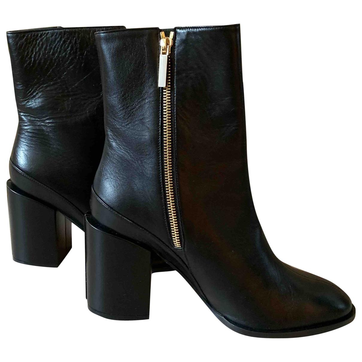 Dear Frances \N Black Leather Boots for Women 39 EU