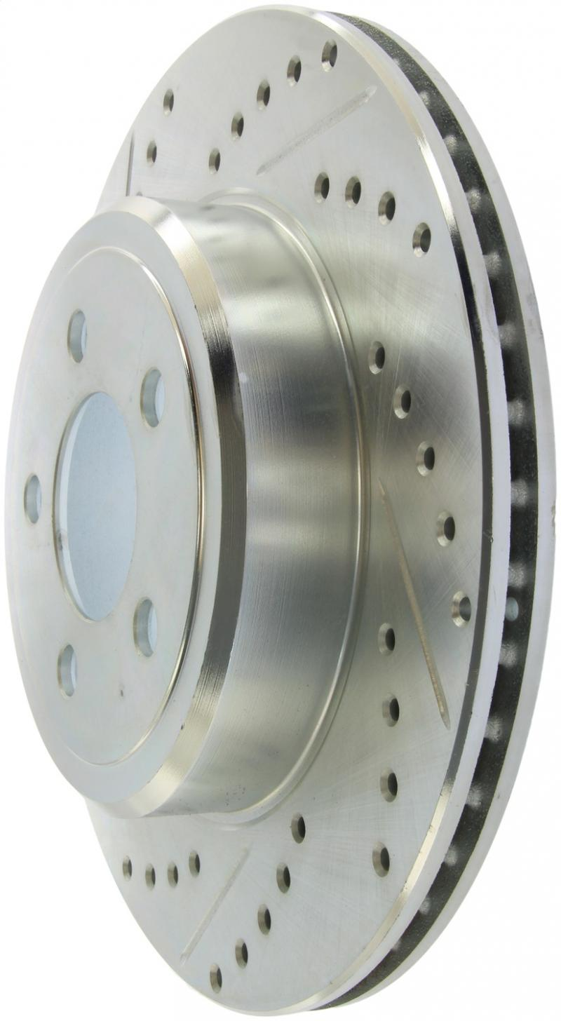 StopTech 227.63062R Select Sport Drilled and Slotted Brake Rotor; Rear Right
