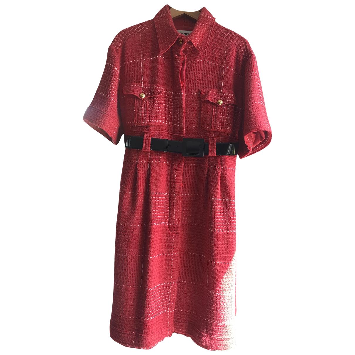 Chanel \N Red Wool dress for Women 46 FR