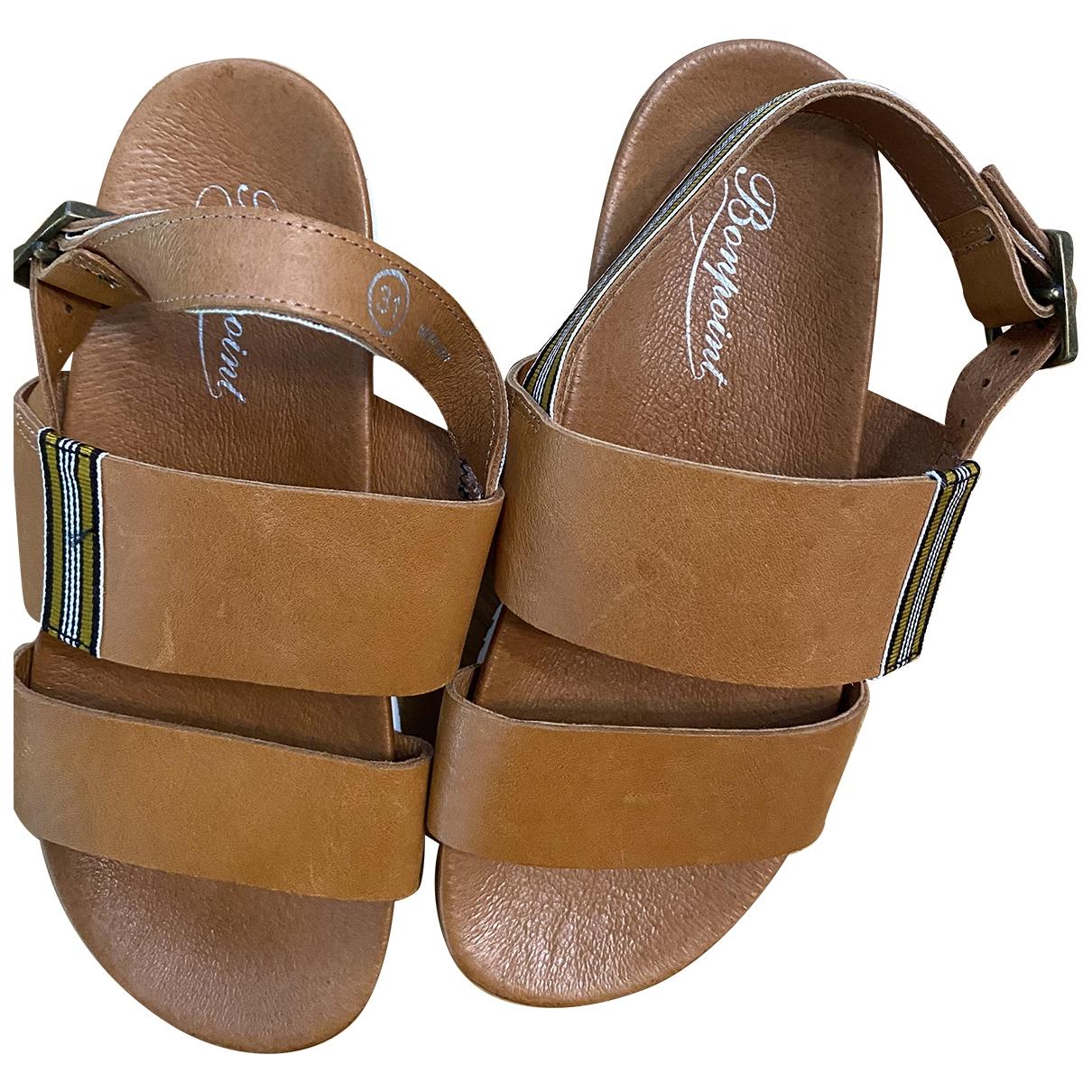 Bonpoint - Sandales   pour enfant en cuir - camel