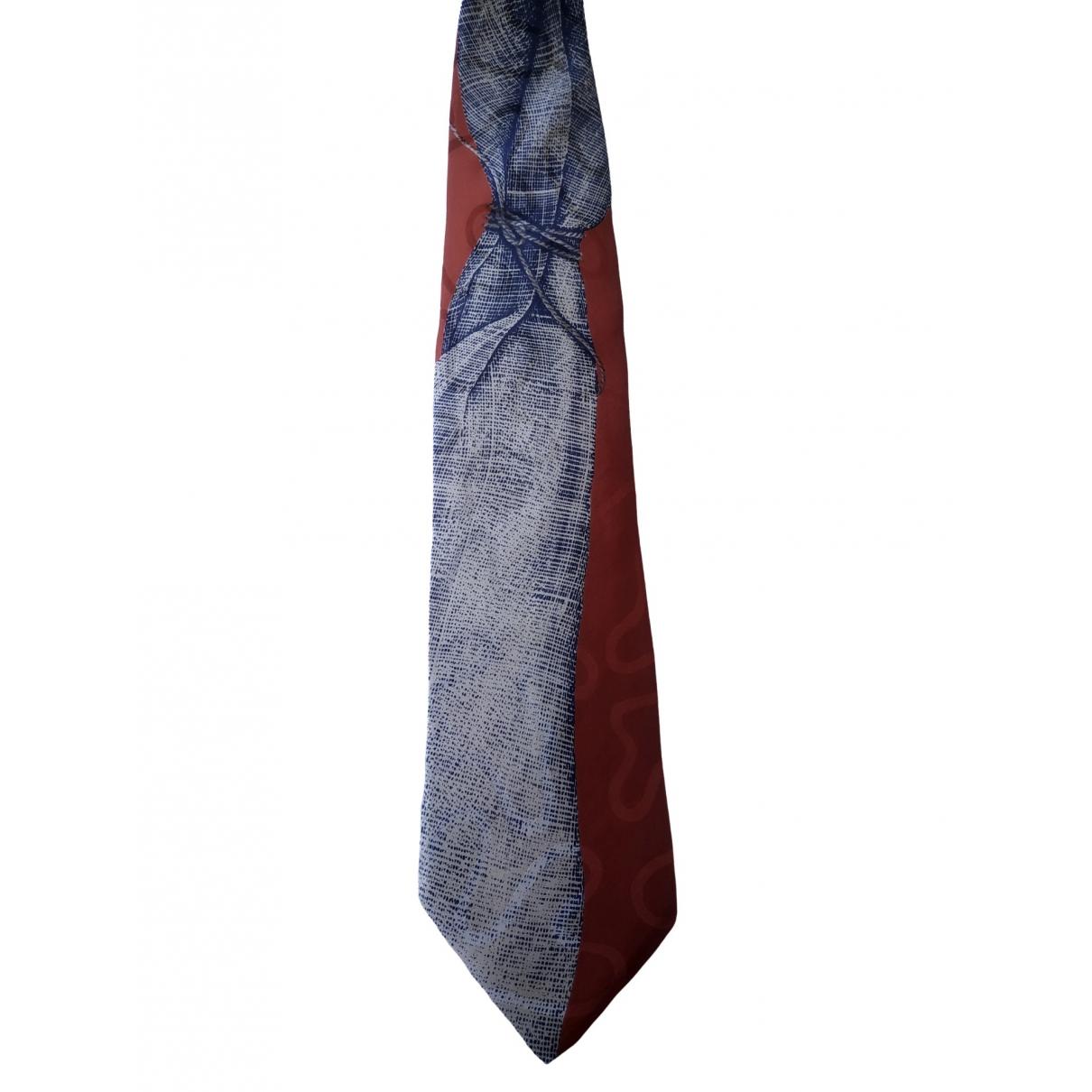 Claude Montana - Cravates   pour homme en soie - rouge