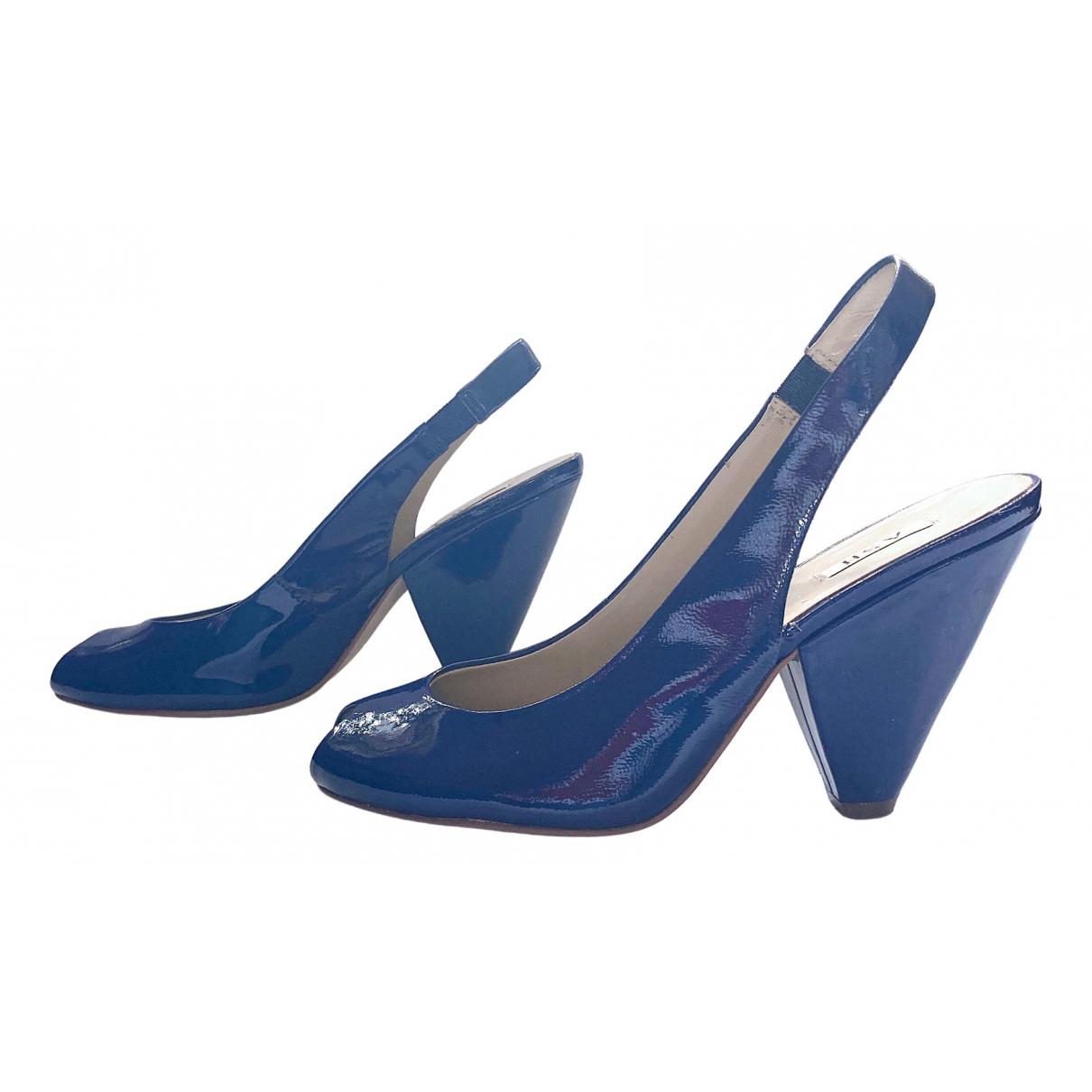 Ash \N Sandalen in  Blau Lackleder