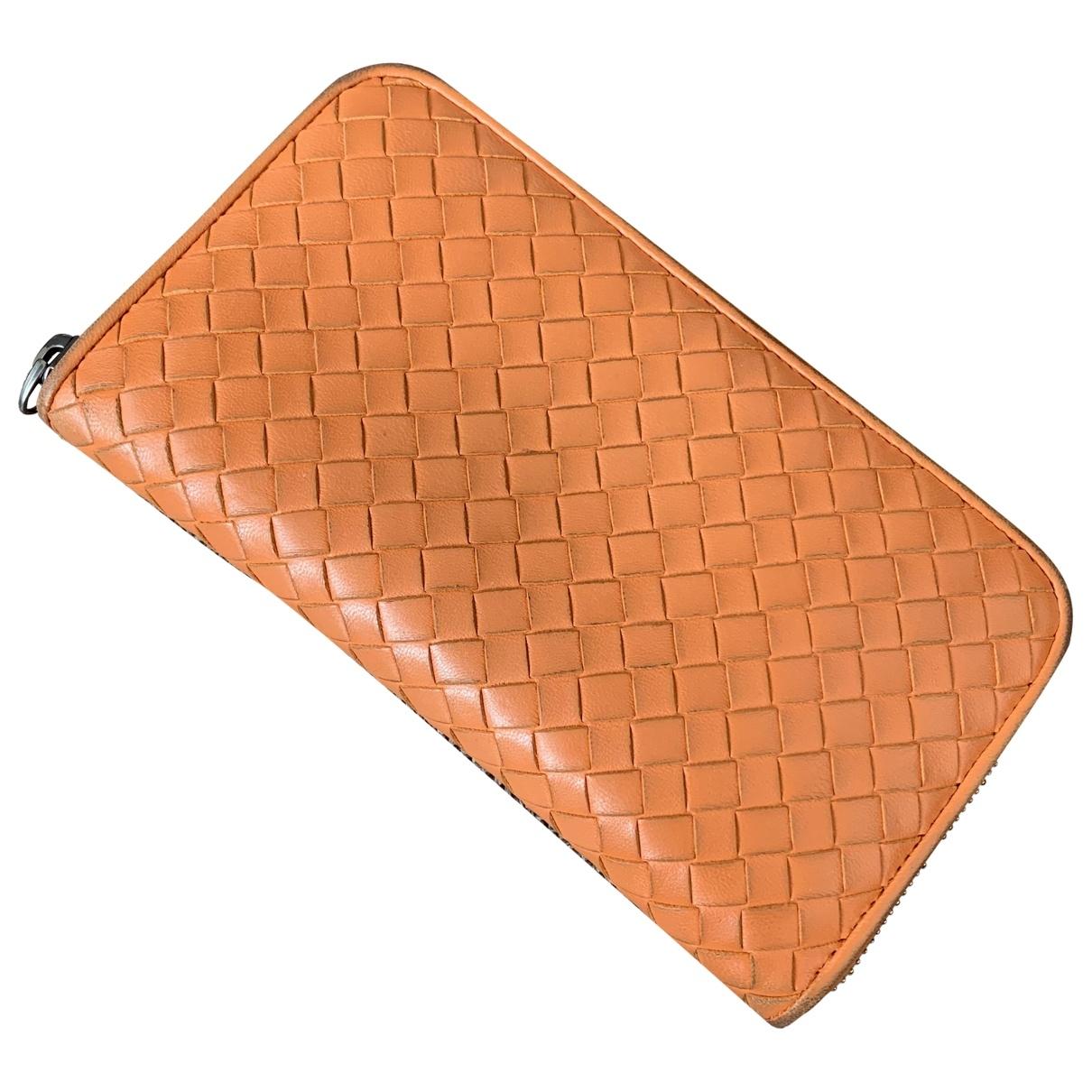 Bottega Veneta - Portefeuille   pour femme en cuir - orange