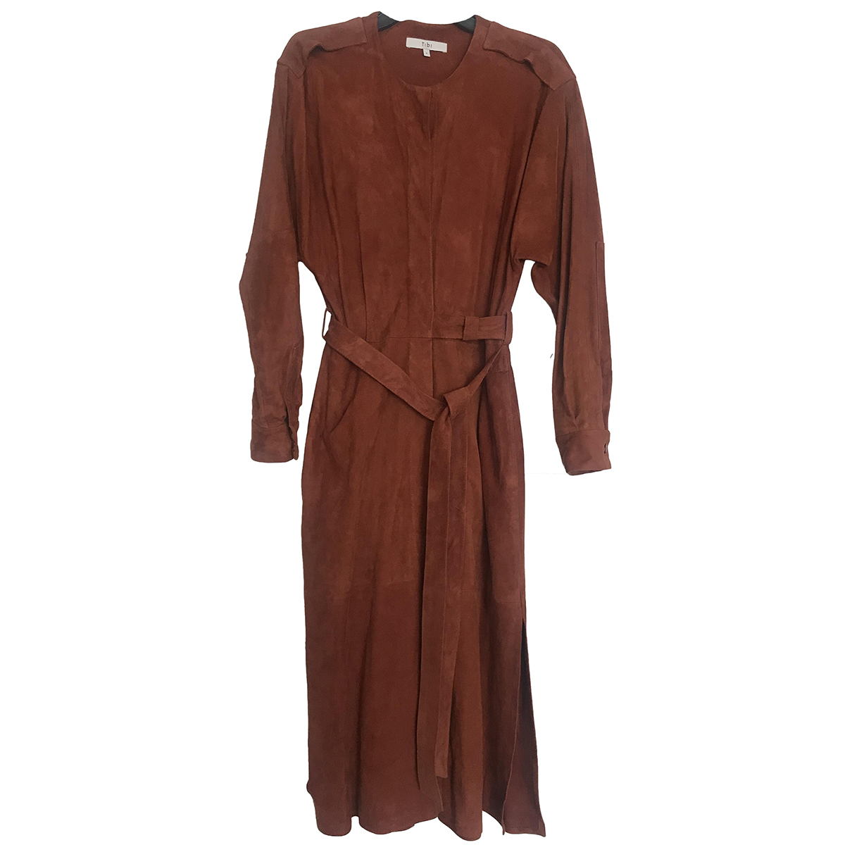 Tibi \N Kleid in Veloursleder