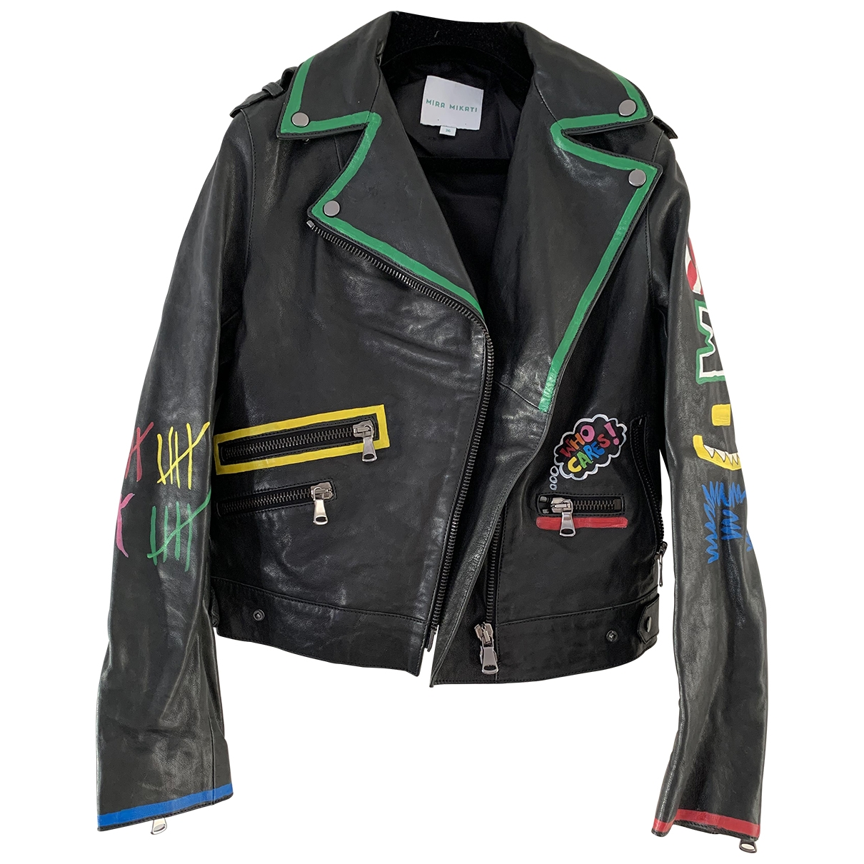 Mira Mikati \N Multicolour Leather jacket for Women 36 FR