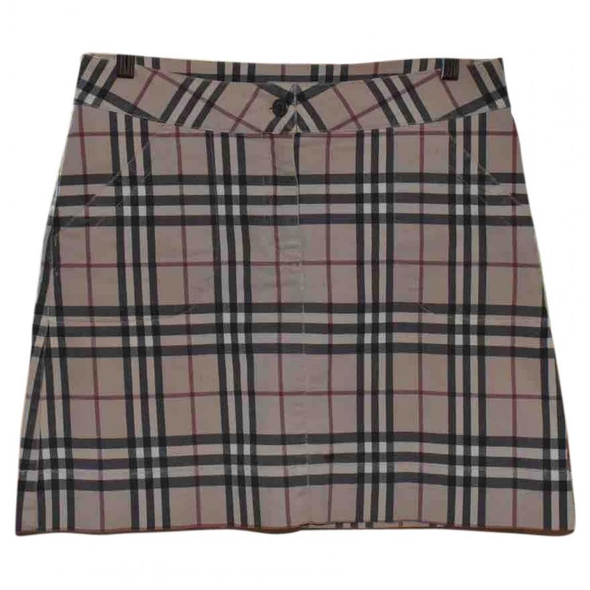Burberry - Jupe   pour femme en coton - elasthane - multicolore