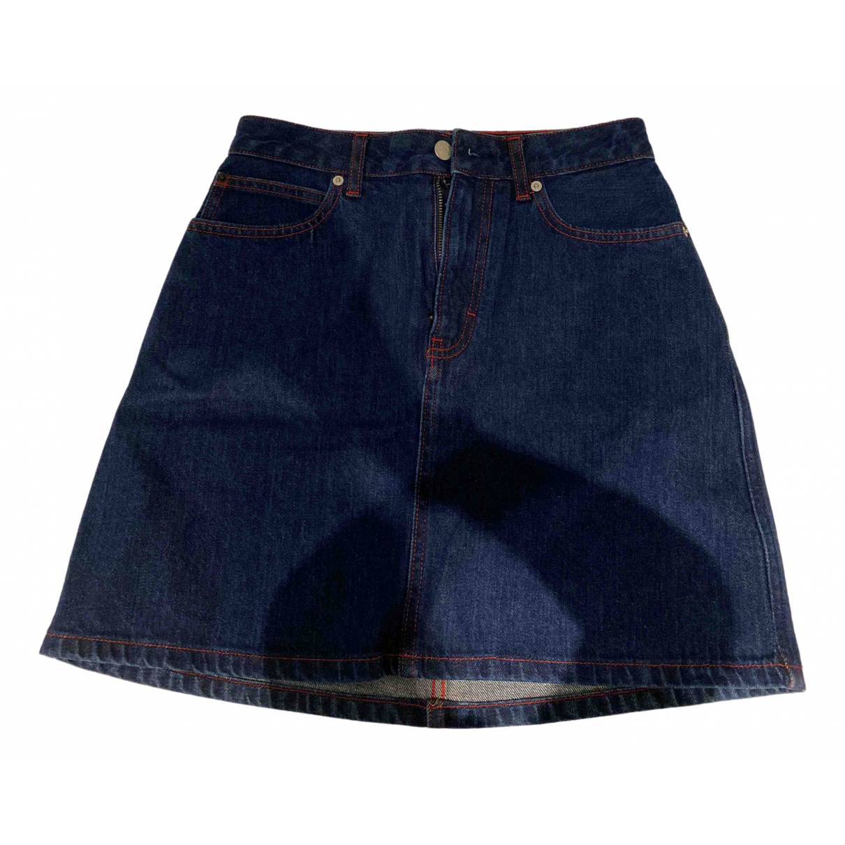 Calvin Klein - Jupe   pour femme en denim - bleu