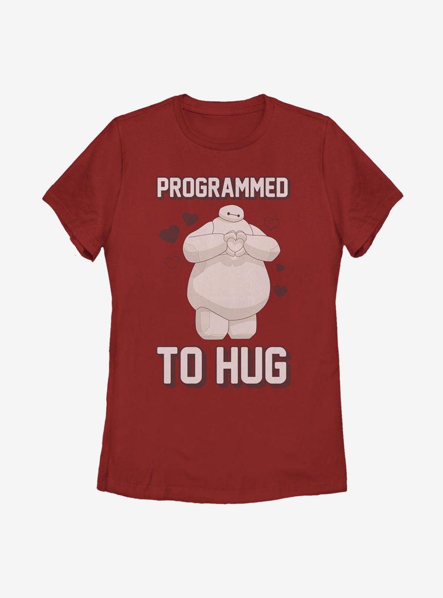 Disney Big Hero 6 Baymax Programmed To Hug Womens T-Shirt