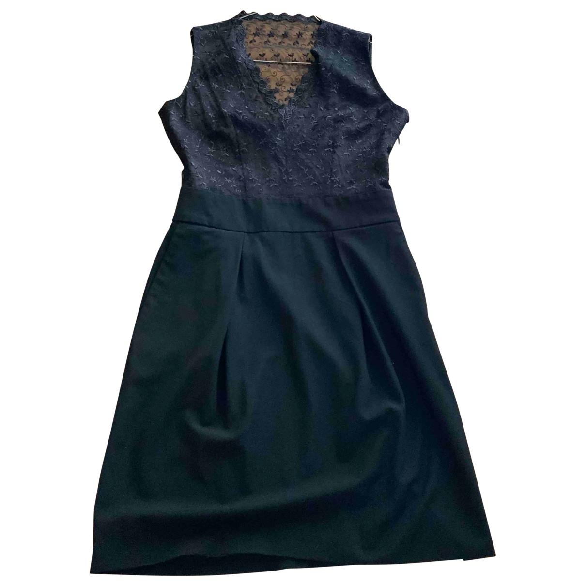 Claudie Pierlot \N Kleid in  Schwarz Baumwolle