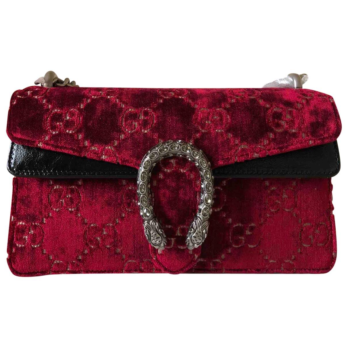 Gucci Dionysus Handtasche in  Rot Samt