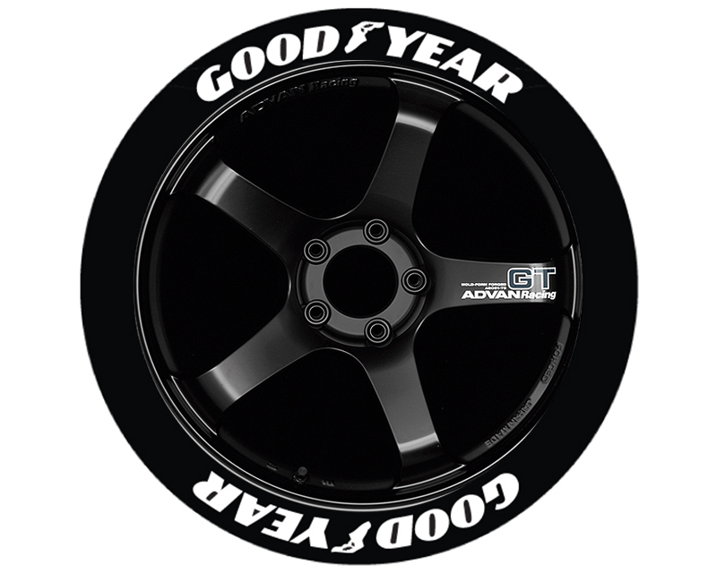 Tire Stickers GDYR-1921-125-4-W Permanent Raised Rubber Lettering 'Good Year' Logo - 4 of each -  19