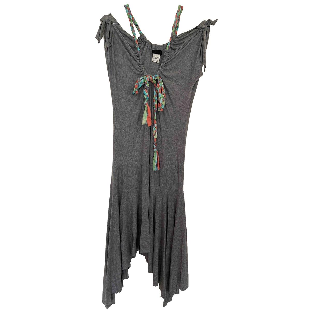 - Robe Hippie Chic pour femme en coton - elasthane - gris