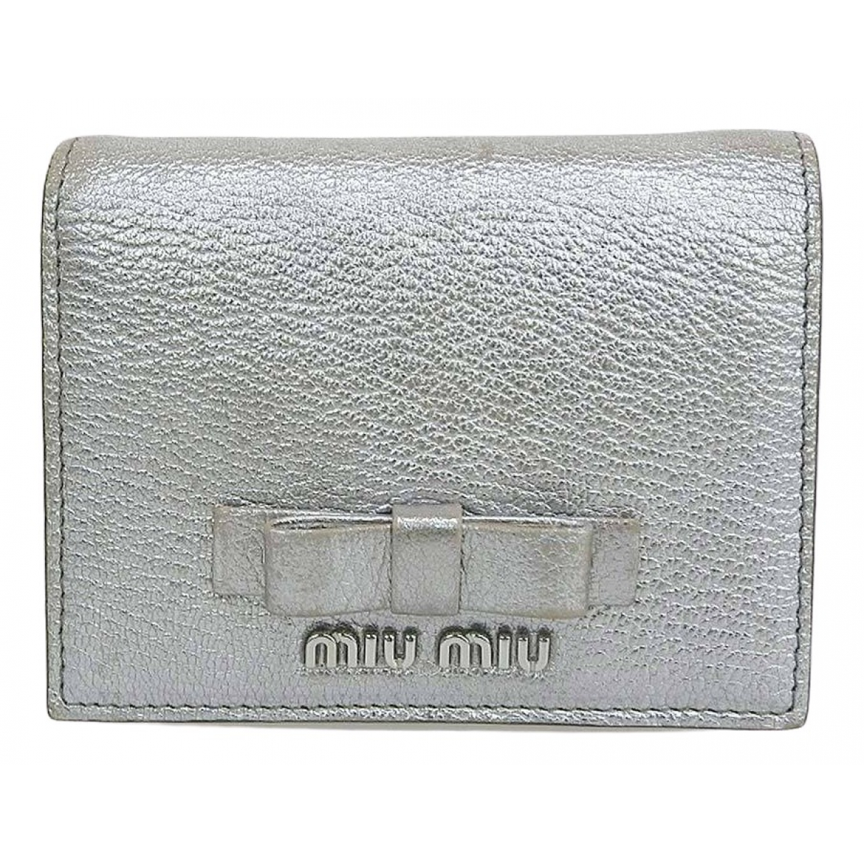 Miu Miu \N Silver Leather wallet for Women \N