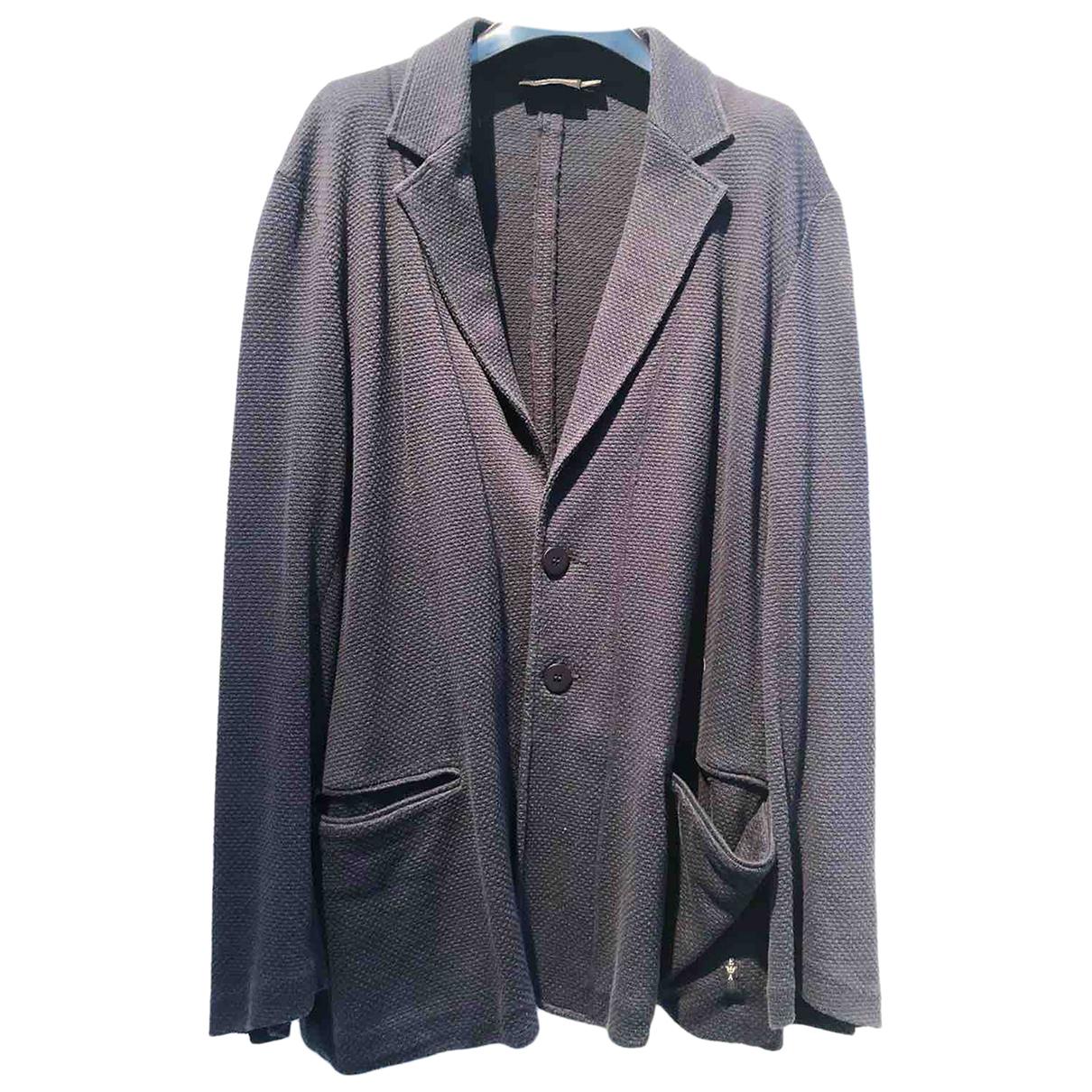 Emporio Armani N Blue Cotton jacket  for Men XXL International