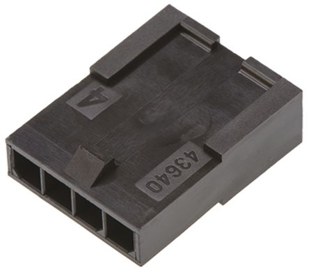 Molex , Micro-Fit 3.0 Male Connector Housing, 3mm Pitch, 4 Way, 1 Row (5)