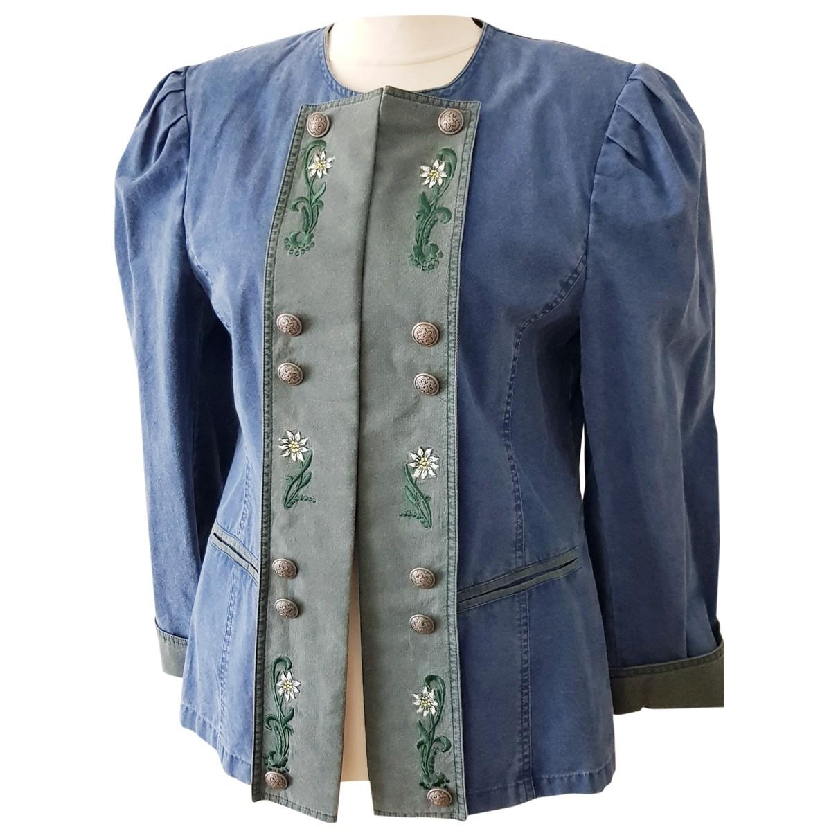 Elegance Paris - Veste   pour femme en coton - bleu