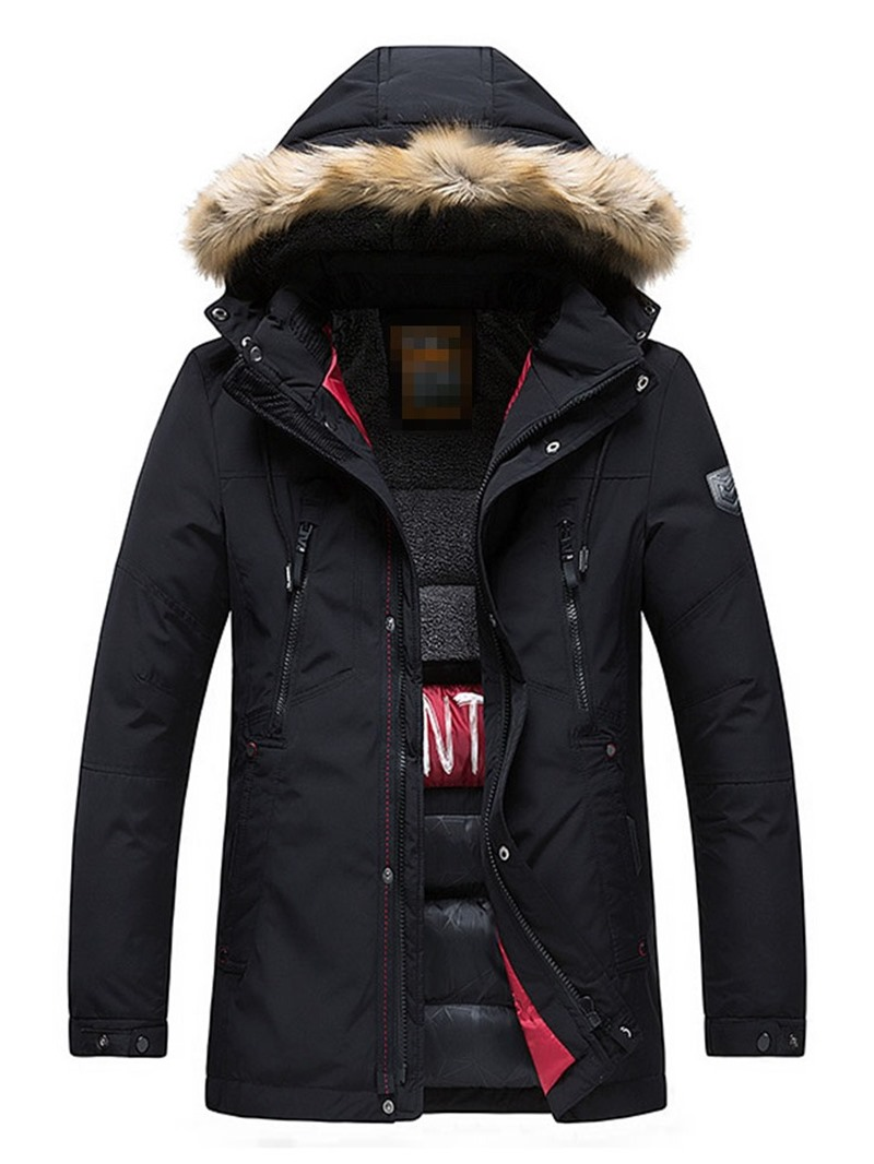 Ericdress Color Block Zipper European Men's Down Jacket
