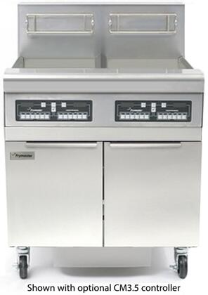 FPP235 32 MJ35 Series Commercial Gas Fryer with 220000 BTU  80 lbs Oil Capacity  Master Jet Burner System  Fryer Batteries with Filtration and Deep