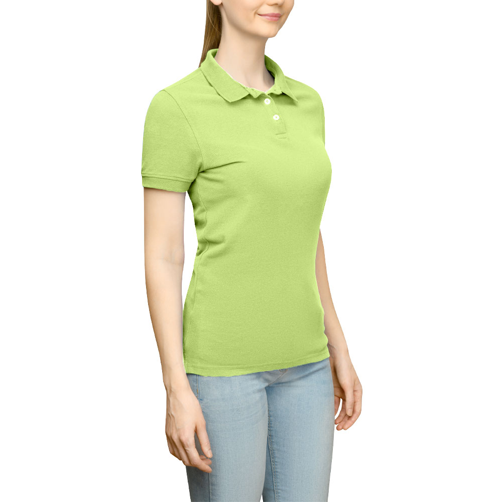 Page & Tuttle Solid Jersey Polo Golf Shirt Green- Womens- Size S