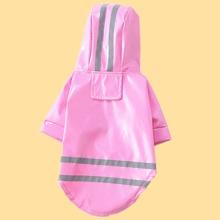 1pc Striped Dog Reflective Raincoat
