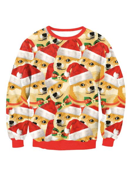 Milanoo Dux navidad sudadera pulover Feo Tops Navidad