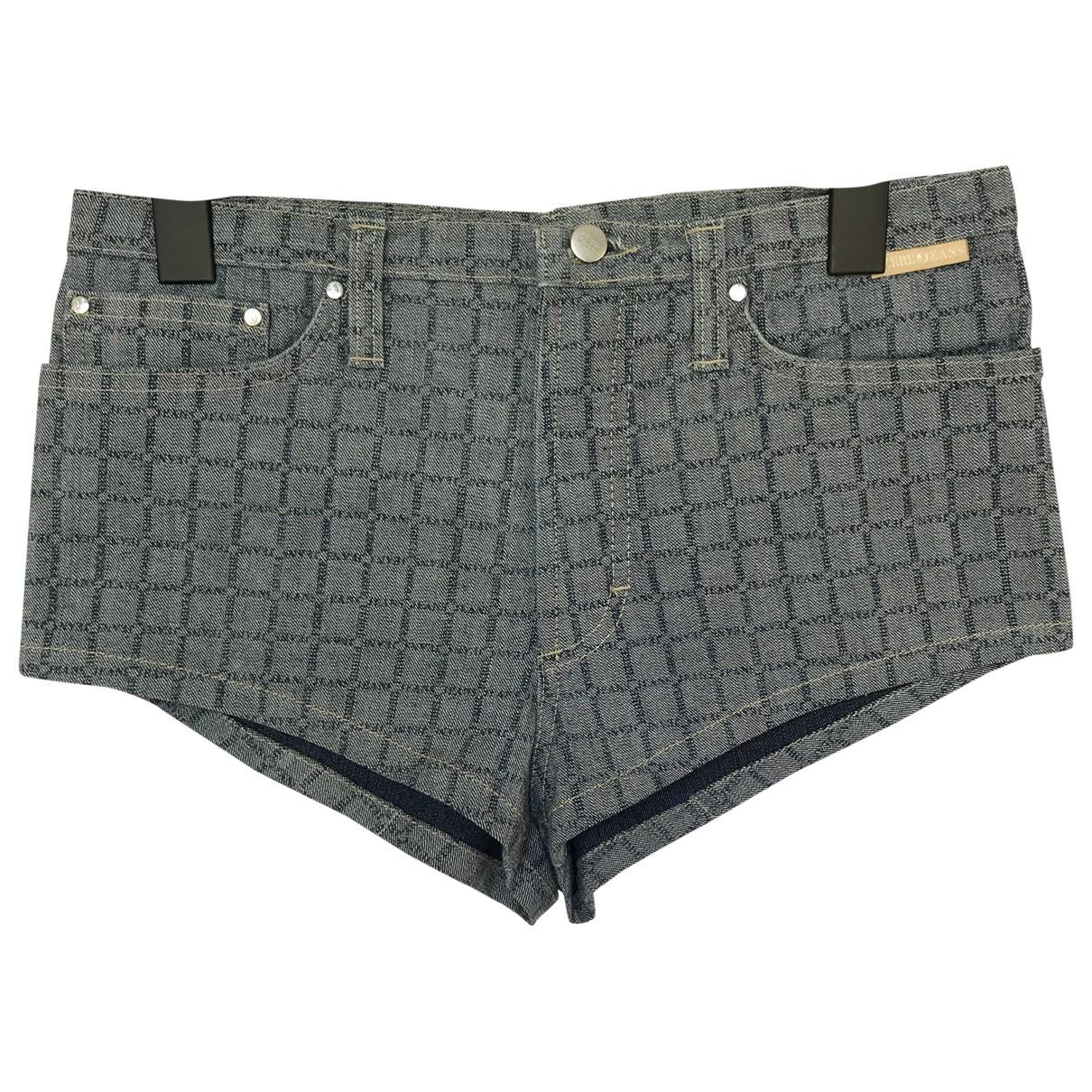 Gianfranco Ferré \N Grey Cotton Shorts for Women 40 IT