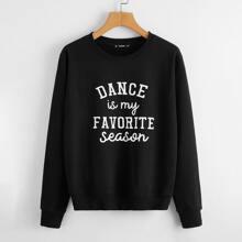 Slogan Graphic Sweatshirt